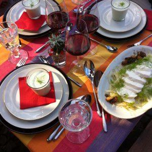 Abendimbiss mit Fenchelcarpaccio