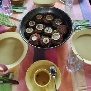 Pilzschnitzel mit Zitrone und Kapern