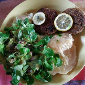 Mittags-Tisch-Teller